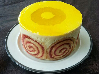 Entremet individuel passion ananas