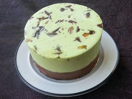 Entremet individuel pistache chocolat