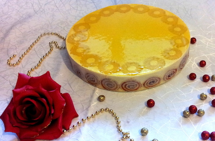 Entremet passion ananas