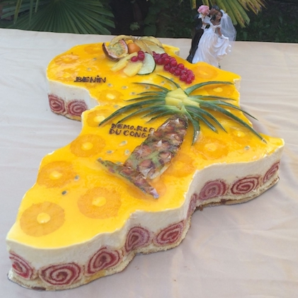 ENtremet carte afrique passion mangue
