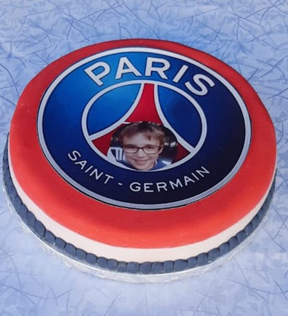 Gateau theme enfant paris saint germain