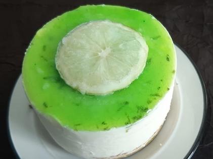Entremet individuel citron vert